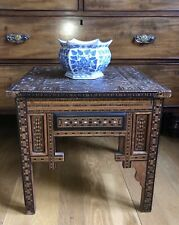 More details for syrian table. inlaid table libery style table antique middle eastern table