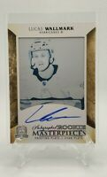 2017-18 The Cup Lucas Wallmark Rookie Masterpieces #1/1 Cyan Plate Auto