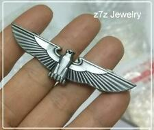 GERMAN OFFICER CAP Emblem - silver imperial eagle insignia badge pin ww2 z7qq
