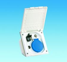 Caravan White External Utility Box for TV / SAT 12v & Continental Socket PO121