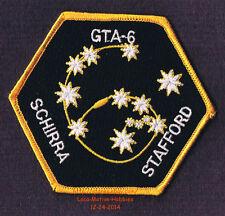 "LMH PATCH Badge  GEMINI 6 VI Program NASA GTA-6 A 1965 Space Mission Insignia 4"""