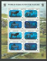Mongolia 2000 WWF Horses, hologram stamps MNH sheet