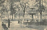 MADISON WISCONSIN~FOUNTAIN IN CAPITOL PARK~1907 ROTOGRAPH PHOTO POSTCARD