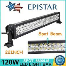 22inch 120W LED Work Light Bar Spot Beam Off-road SUV Truck UTE Driving Lamp