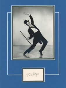 Legendary entertainer FRED ASTAIRE signed display