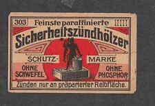Ancienne   étiquette  Allumette  Allemagne BN2150 Homme
