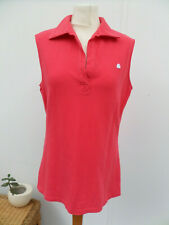 Benetton 100% Cotton Coral Colour Sleeveless Sports Top T-Shirt Size M (12-14)