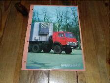 KAMAZ 5410 Tractor Avtoexport Truck LKW Camion brochure prospekt catalogue