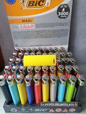 10 briquets BIC Maxi, briquet jetable à pierre , 5 coloris différents