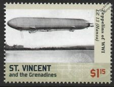 "WWI Luftschiff Zeppelin LZ.13 ""Hansa"" G-Class German Airship Stamp #1"