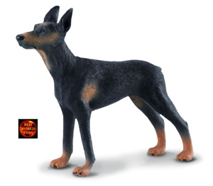 Doberman Pinscher Dog Toy Model Figure by CollectA 88086 Cake Topper Brand New