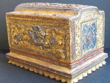 Antique Boîte à Bijoux en Bois Birmanie