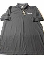 New OGIO Mens Shirt Size L Black Short Sleeve Golf Polo Polyester