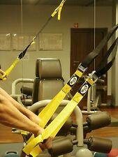 MaxGym® Trainer. Suspension straps training. Body trainer. MMA Trainer yellow
