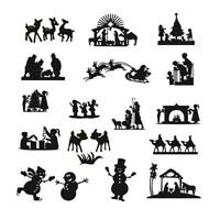 Christmas Family Cutting Dies Metal Stencil DIY Scrapbooking Album tp Paper H1E5