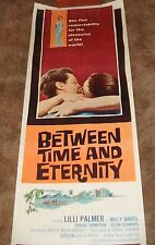 Between Time And Eternity Lilli Palmer ORIGINAL 1971 INSERT FILM MOVIE POSTER