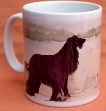 AFGHAN HOUND DOG MUG OFF TO THE DOG SHOW WATERCOLOUR PRINT SANDRA COEN ARTIST