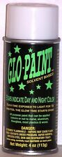 GLO PAINT-GREEN COLOR- GLOW IN THE DARK-- 4oz Aerosol