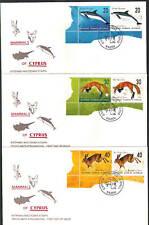 2004 Mammals Of Cyprus Dolphin Fox Hare Lepus Set Of 6v Nice Corner Unof/Al Fdc.