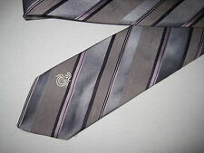 53 x 3 Gray Purple Stripe Tie Necktie Via Re~ (1390)  FREE US SHIP