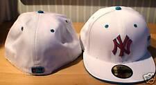 New York Yankees White Custom New Era Hat Cap 7 5/8 MLB