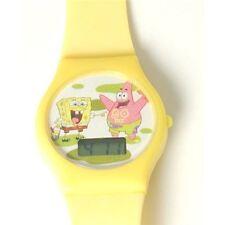 Disney Bob Esponja Digital Amarillo Reloj Regalo De Navidad Para Niños / Girl-Boy