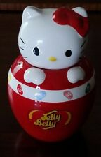"Hello Kitty Jelly Belly Jelly Bean Red Ceramic Candy Jar 2010 Sanrio 7 1/2"" Tall"