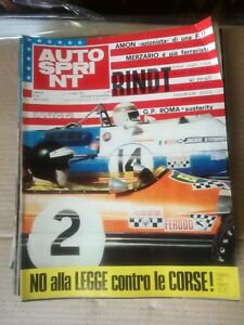 Jahrgang Autosprint 1969 (Lotto Di 22 Magazine) Auto Sprint Zeitschrift Autos