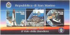 San MARINO 1998 spazio/Shuttle/Trasporto/Scienza/Ricerca/Bandiera 3 V M/S (n43441)