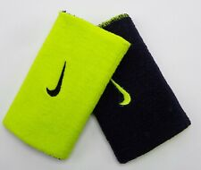 Nike Home & Away Doublewide Wristbands Black/Venom Green Men's Women's