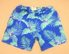 HOLLISTER GUYS SHORTS Size XL NWT cotton floral Blue pockets seagull