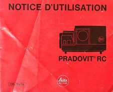 Instruction manual projector slide Pradovit RC by Leitz