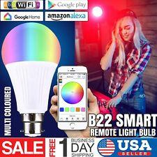 Smart WiFi B22 LED Bulb App Remote Control for Alexa Google Home Amazon Xmas