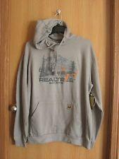 "NWT Men's REALTREE ""Buck Brand"" Gray Hooded Sweatshirt Pouch Pocket Hoodie Sz. L"