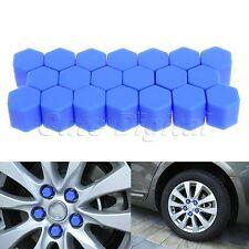 20x 19mm Blue Car Wheel Nut  Lug Silicone Hub Covers Screw Dust Protect Caps