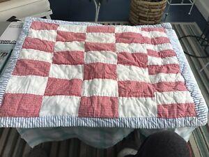 RALPH LAUREN Quilted Patchwork Standard Pillow Shams-Cotton-Vintage Pattern
