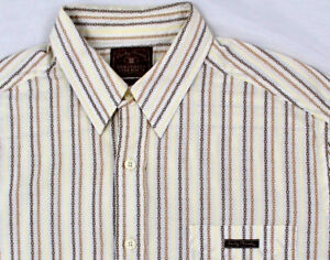 Lucky Brand Men's Striped Long Sleeve Shirt Size Large