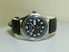 VIintage West End Military Automatic Day Date Swiss Mens Antique Watch R07 Old