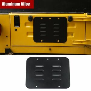 Black Alloy Tailgate Exhaust Air Vent Outlet Trim For Jeep Wrangler TJ 1997-2006