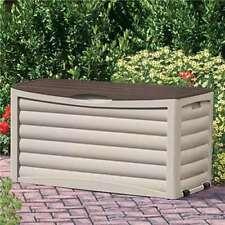Suncast 83 Gallon Capacity Resin Outdoor Patio Storage Deck Box (Open Box)