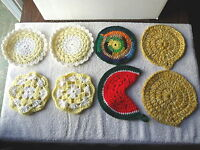 "Vintage Mixed Lot Of 8 Crocheted Doilies,etc."" BEAUTIFUL COLLECTIBLE LOT """