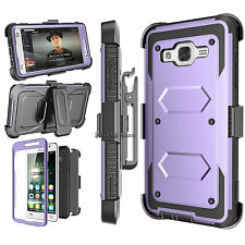 For Samsung Galaxy On5 Armor Refined Phone Cover + Belt Clip Holster Hard Case
