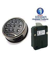 SecuRam Safelogic Basic Electronic Lock & Keypad Kit - Swingbolt -Satin Chrome