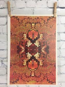 """Vtg Peter Max Poster 1970 MCM Mod 11x16"""" Siblings"""
