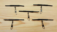 5 x Loaded Pellet Waggler Big Float Adaptors.(Black) + Free Gift.
