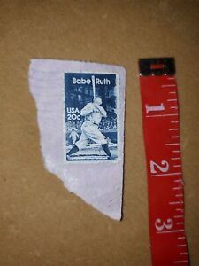 Vintage Babe Ruth 20 cent stamp used - includes free shipping