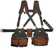 Electrician Tool Belt Pocket Bag Suspenders Carpenter Framer Apron Construction