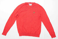 Lyle & Scott Mens Size L Cotton Red Jumper