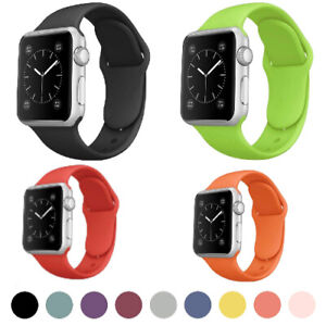 Sports Silicone Strap For Apple Watch Band iWatch Series 6 5 4 3 2 38/40/42/44mm