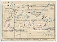 CARTE DE BULLETIN D'EXPEDITION DAMAS / SYRIE / LENS PAS DE CALAIS 1926
